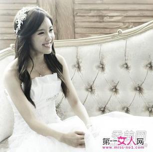 公主头作为新娘发型